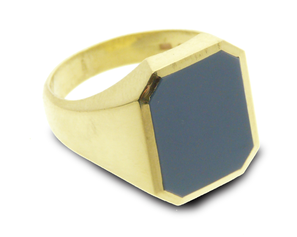 Signet ring gold classic octagon
