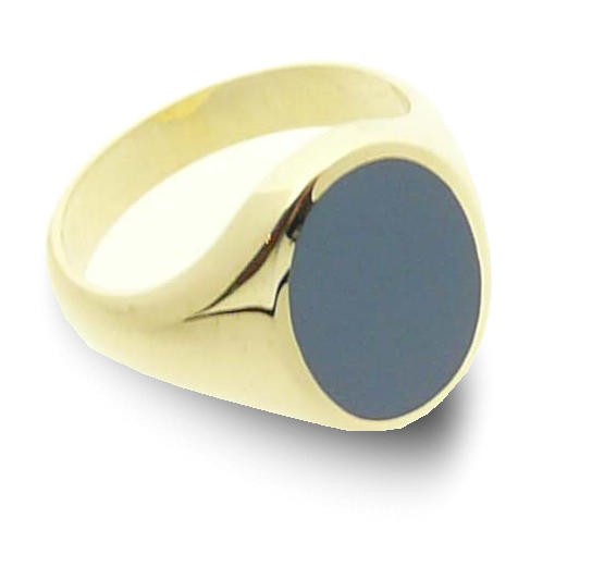 Men's ring signet classic oval