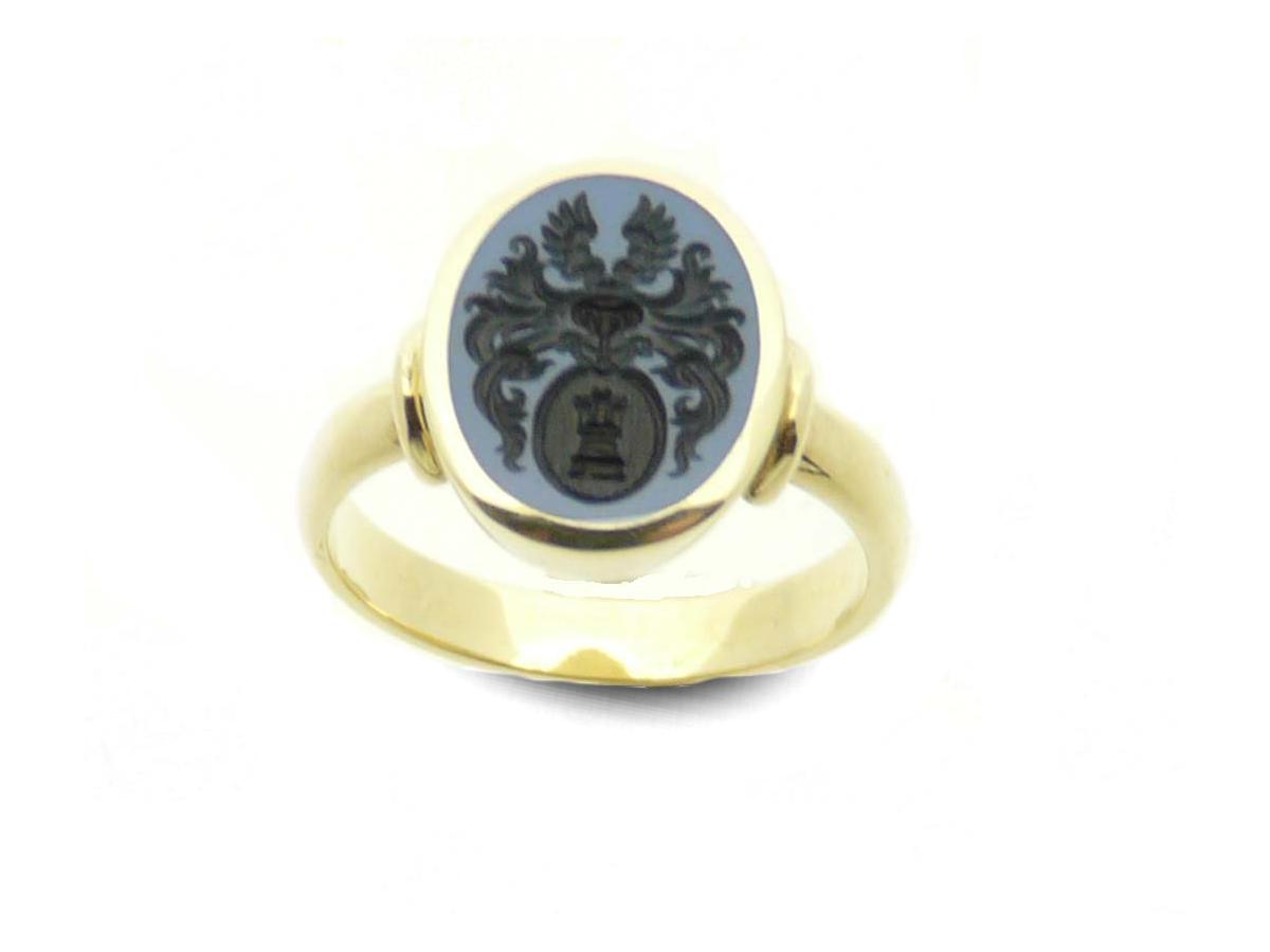 women's signet ring oval single shank singe band