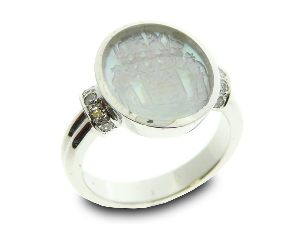 women's signet ring oval double shank single band