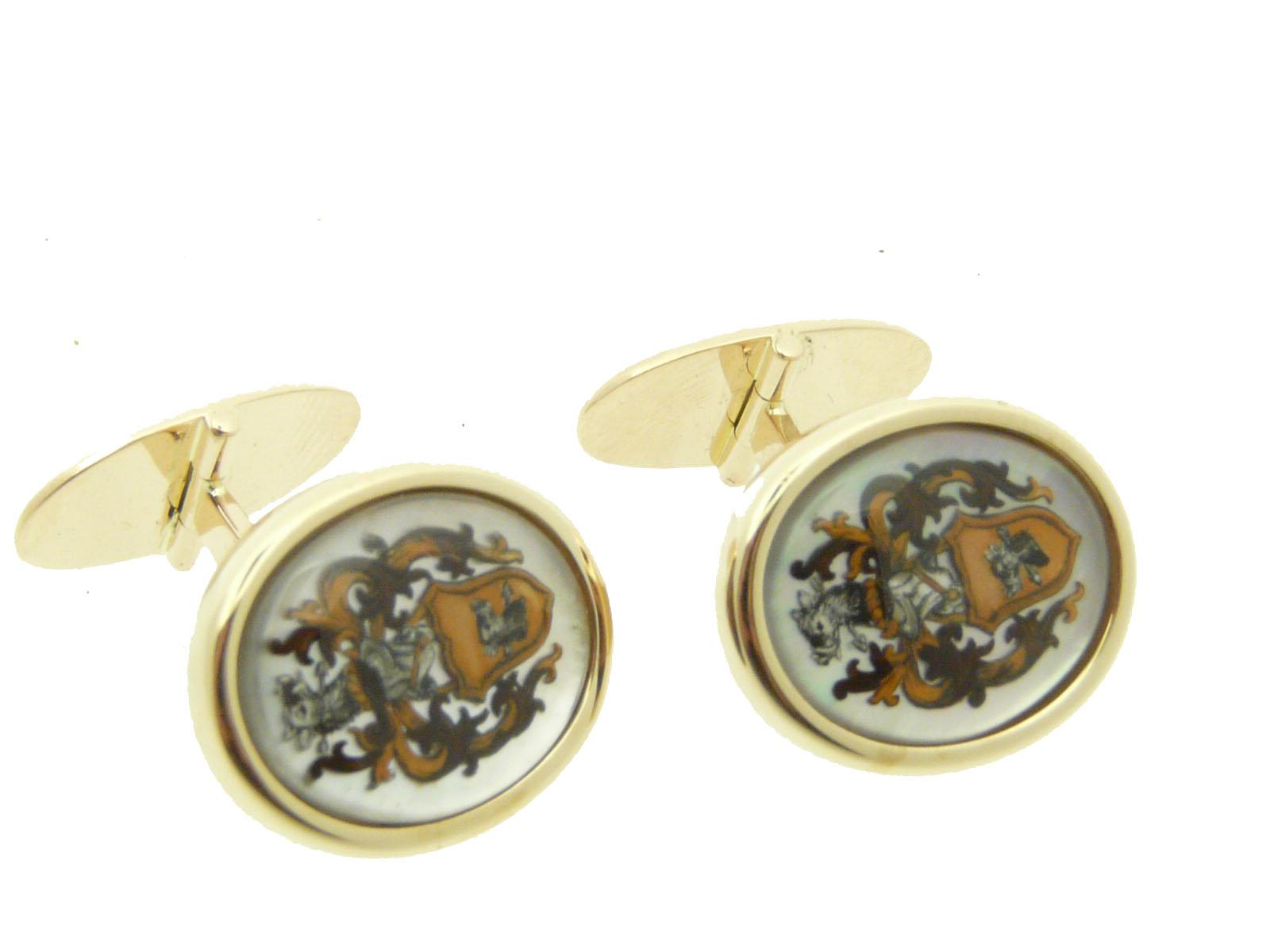 ovale manchetknopen en jumelle