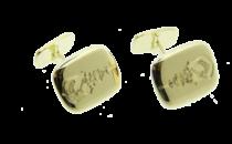 Gouden stomphoekige manchetknopen