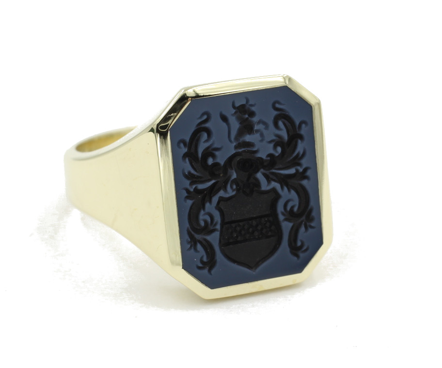 classic octagon signet ring