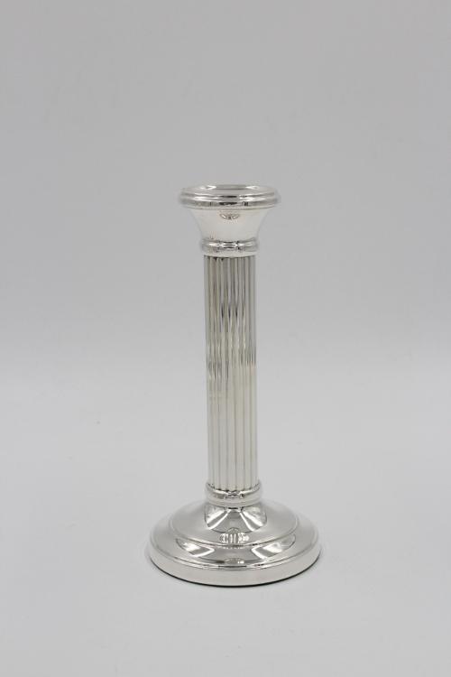 Zilveren zuilkandelaar 15 cm