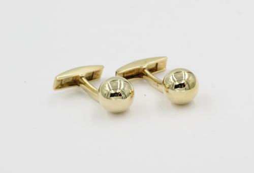 Gouden bal manchetknopen