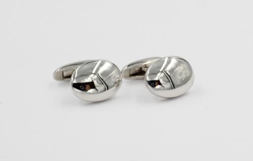 Zilveren knopen ovaal klein