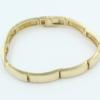 14 kt gouden schakelarmband , 7 mm, 10 schakels, massief glad poli