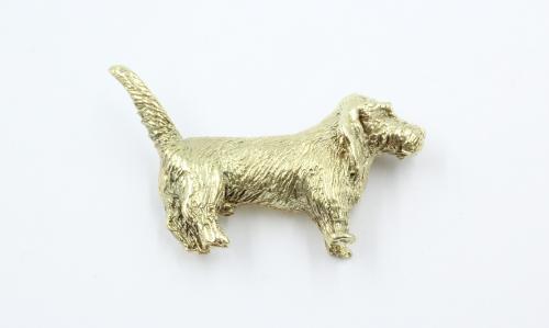 14 karaats gouden broche in de vorm van een Franse Fauve de Bretange . In eigen atelier vervaardigd, ontworpen door N.Alsemgeest.