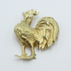 14 karaats gouden haanbroche uit eigen atelier unica