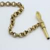 Gouden horloge ketting met opwind sleutel