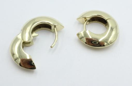 14 karaats gouden creolen 4 mm breed