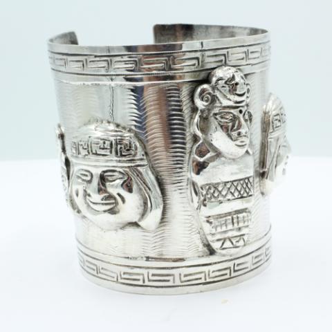 Peruaanse armband, zeer breed model, fraai handwerk