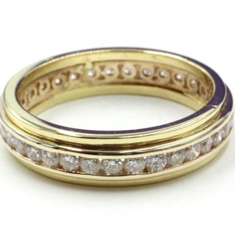 alliance ring met railzetting 14 kt goud